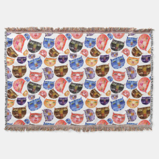 Here Kitty Kitty Throw Blanket