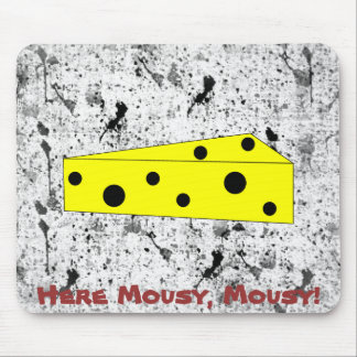 Here Mousy, Mousy! (inkspots) Mouse Pad