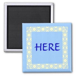Here Stateroom Door Marker Square Magnet