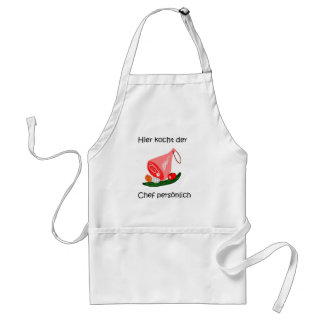Here the boss cooks personally standard apron