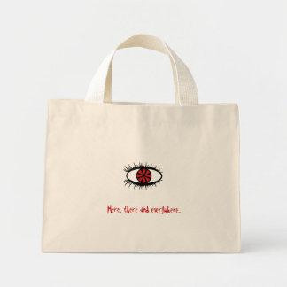 Here, there and everywhere... mini tote bag