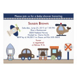 Here, There, Everywhere Boy Baby Shower Invitation