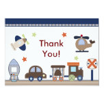 Here, There, Everywhere Boy Thank You Card Personalized Announcement