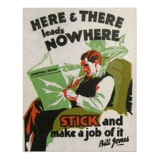 Here & There Leads Nowhere Poster