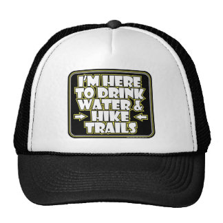 Here to Drink Water Cap