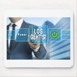 Here we go (german los gehts) touchscreen concept mouse pad