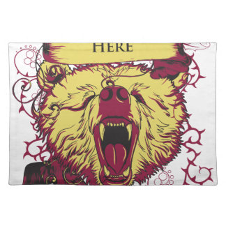 here we stand, cute monkey placemat