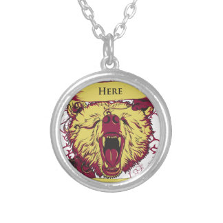 here we stand, cute monkey silver plated necklace