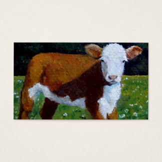 HEREFORD BEEF CALF BUSINESS CARD