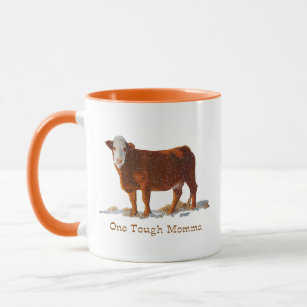 Hereford Cow: One Tough Momma: Mother's Day Mug
