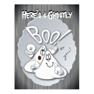 Here's a Ghostly Boo to you! Postcard
