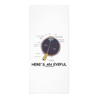 Here's An Eyeful (Eye Anatomy Humor) Personalized Rack Card