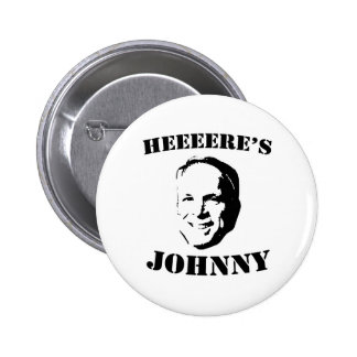 HERE'S JOHNNY T-SHIRT BUTTON