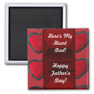 Here's My Heart Dad! Magnet