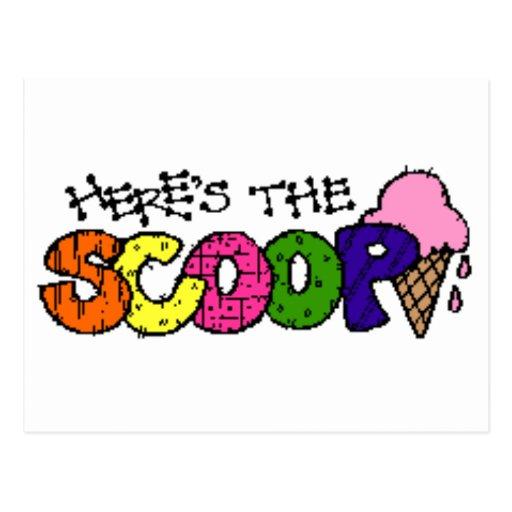 Here's the Scoop Postcard