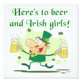 Here's to Beer and Irish Girls T-shirts and Gifts Announcements