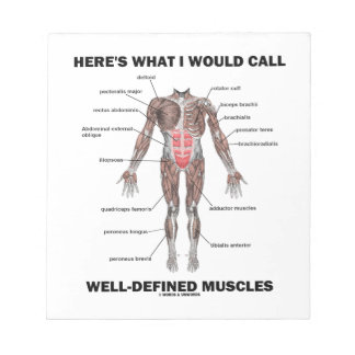Here's What I Would Call Well-Defined Muscles Notepad