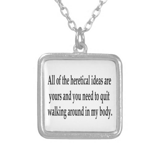 Heretical Ideas Necklaces