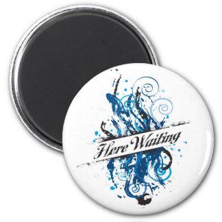 herewaitinglogo magnet