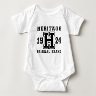 HERITAGE 1924 ORIGINAL BRAND BIRTHDAY DESIGNS BABY BODYSUIT