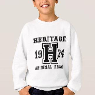 HERITAGE 1924 ORIGINAL BRAND BIRTHDAY DESIGNS SWEATSHIRT