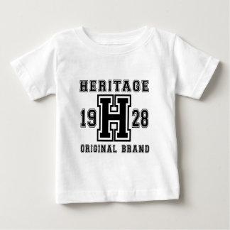 HERITAGE 1928 ORIGINAL BRAND BIRTHDAY DESIGNS BABY T-Shirt