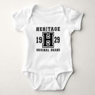 HERITAGE 1929 ORIGINAL BRAND BIRTHDAY DESIGNS BABY BODYSUIT