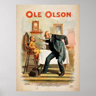 Heritage Americana Ole Olson Vintage Poster