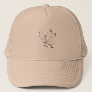 Heritage Breed Chickens - Rooster and Hen Trucker Hat