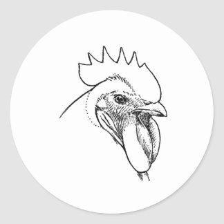 Heritage Breed Rooster Illustration Classic Round Sticker