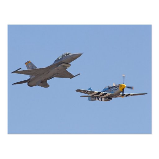 Heritage Flight P 51 Mustang And F 17 Postcard