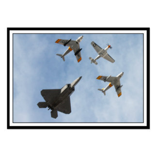 Heritage - P-51 Mustang,F-86-F Saber,F-22A Raptor Pack Of Chubby Business Cards