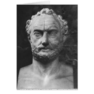 Herm of a man, said to be Thucydides Card