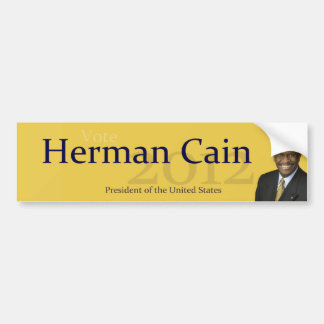 Herman Cain 2012 President of the United States Bumper Sticker