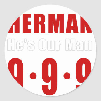 Herman Cain 999 Plan Round Sticker