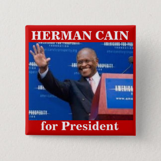 Herman Cain for Presiden button