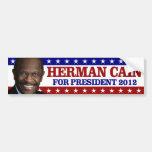 Herman Cain For President 2012 Car Bumper Sticker