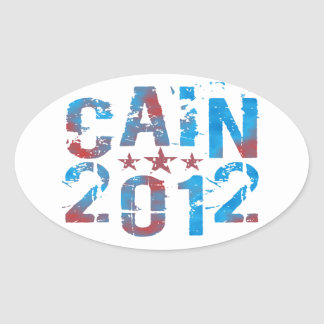 Herman Cain for President in 2012 Oval Sticker