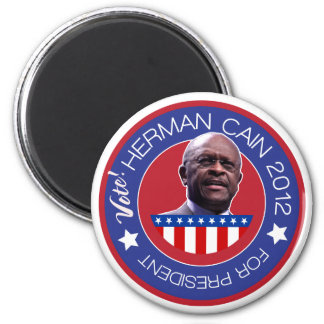 Herman Cain for US President 2012 6 Cm Round Magnet
