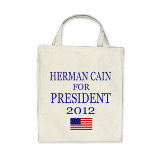 Herman Cain Organic Grocery Bag