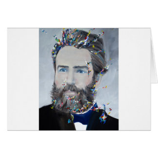 herman melville - oil portrait card