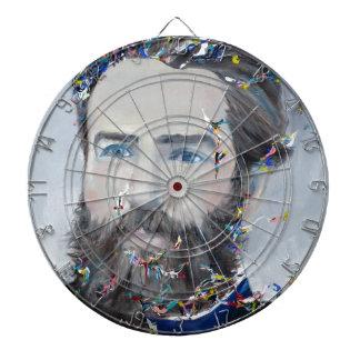 herman melville - oil portrait dartboard