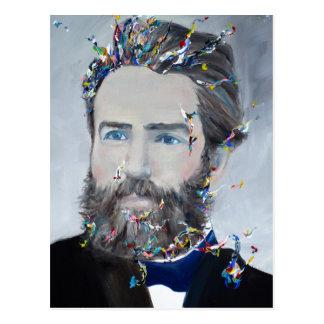 herman melville - oil portrait postcard