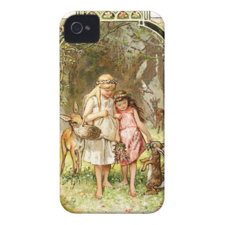 Hermann Vogel - Snow White and Rose Red iPhone 4 Cover