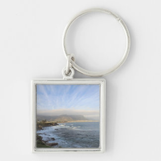 Hermanus, South Africa Silver-Colored Square Key Ring