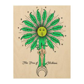 Hermes Sacred Tree of Alchemy Wood Print