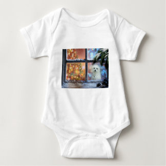 Hermes the Maltese Baby Bodysuit