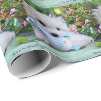 Hermes the Maltese Gift Wrapping Paper