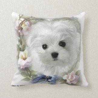 Hermes the Maltese Pillow/Cushion Throw Pillow