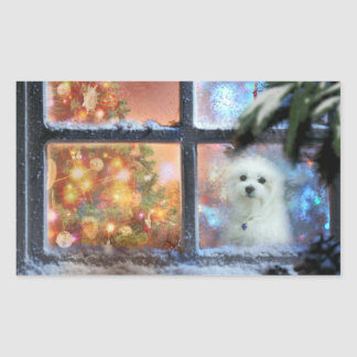 Hermes the Maltese Rectangular Sticker